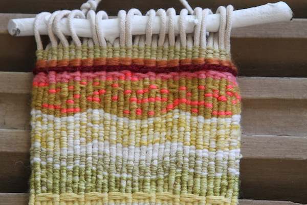 Hand weaving detail