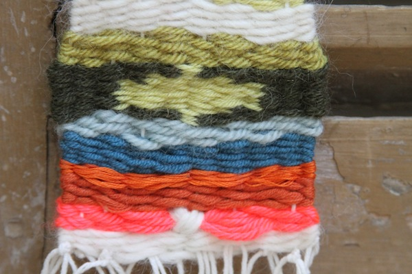 Hand weaving experimenting