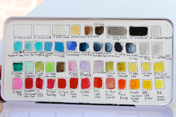 Pam garrison's current water color palette