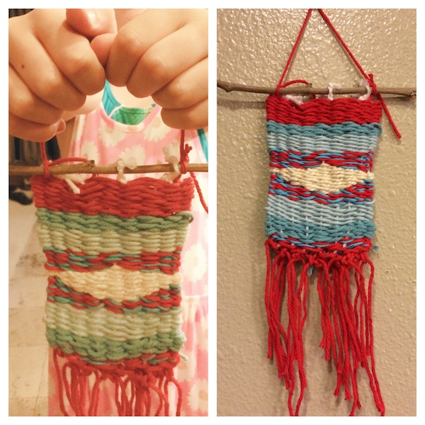 C's first weaving