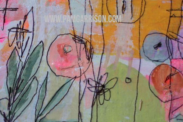 Pam garrison painting in progress 8:14 12