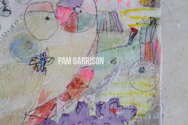 Pam Garrison Dew Drops painting2
