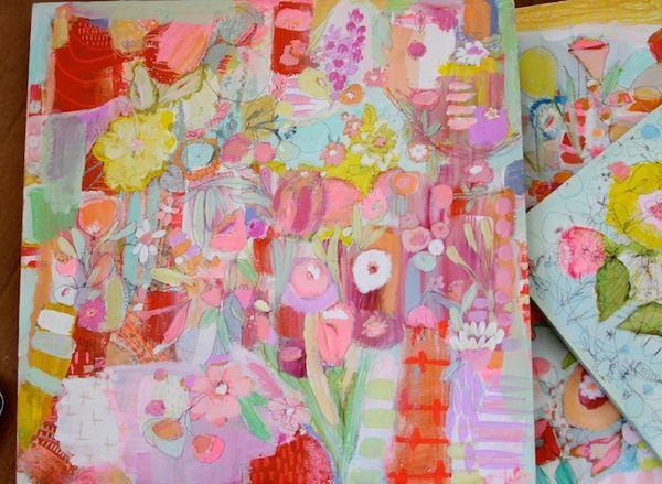 Pam Garison paintings in progress7a