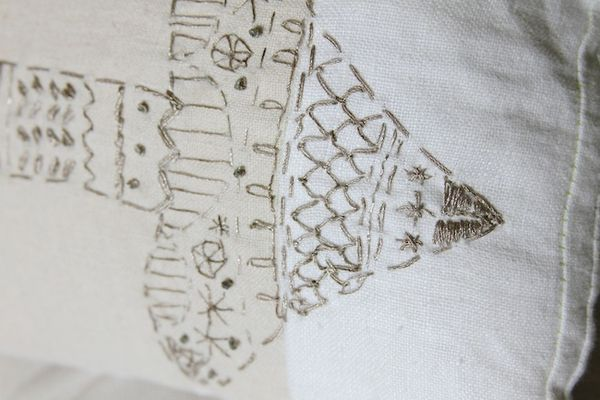 Pam garrison embroidered arrow pillow 2