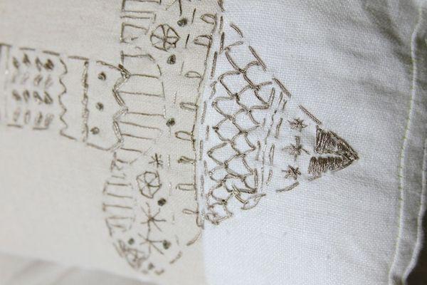 Pam garrison embroidered arrow pillow 2