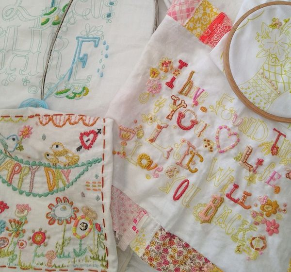 Pam garrison embroidery samplers in progress
