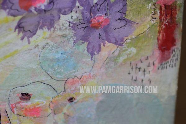 Pam garrison painting in progress 8:14 5