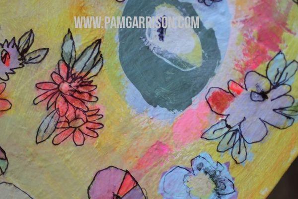 Pam garrison painting in progress 8:14 17