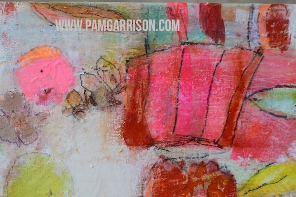 Pam garrison painting in progress 8:14 18