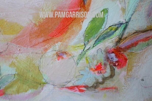 Pam garrison painting in progress 8:14 28