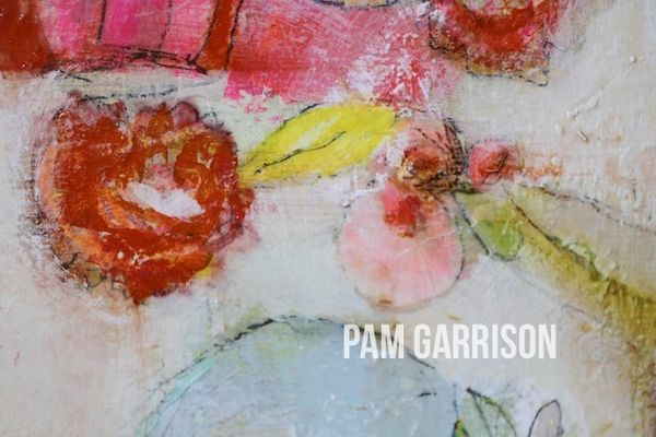 Pam Garrison Softly Blooming painting1
