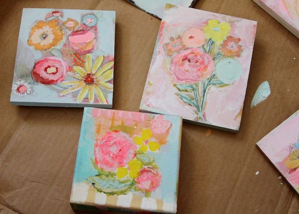 Pam Garison paintings in progress2a