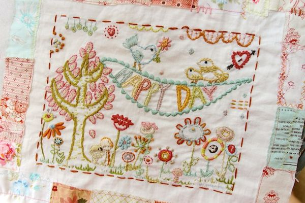 Pam garrison Happy Day stitch sampler pattern