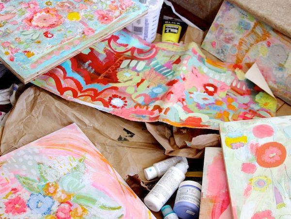 P Garrison paintings in progress5
