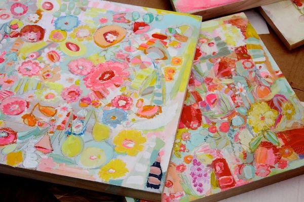 P Garrison paintings in progress3