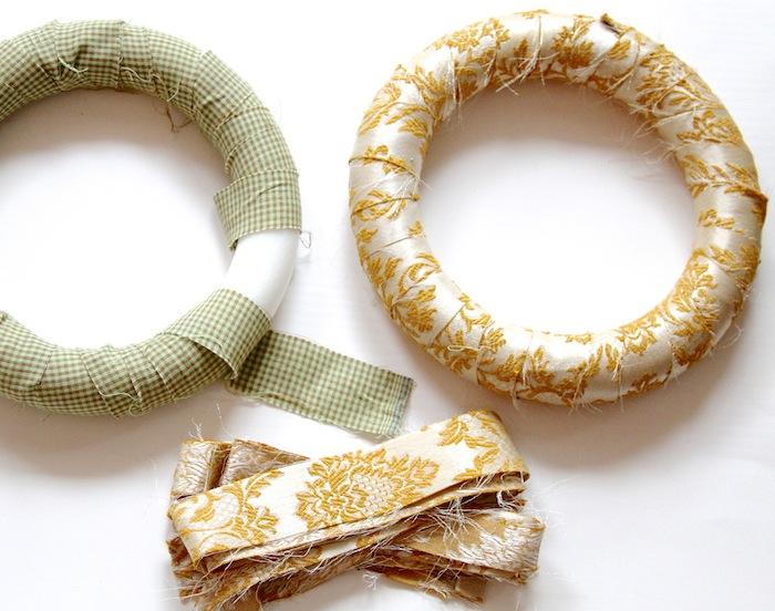Wrap wreath form