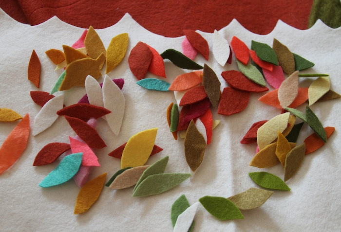 Felt fall leaves 2