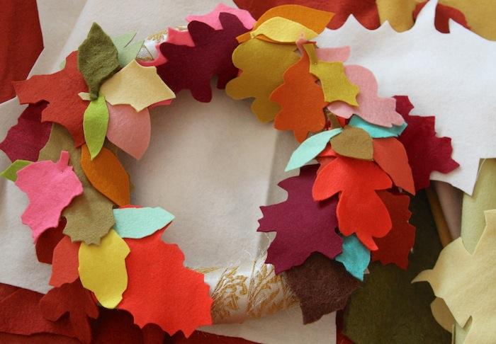 Pam Garrison fall felt wreath