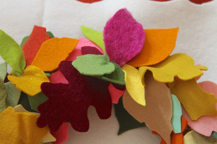 Pam garrison fall felt leaves wreath