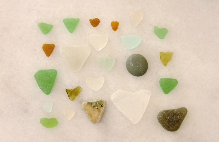 Sea glass found