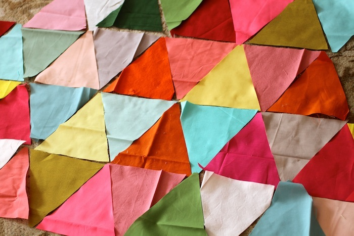 PG triangle quilt wip