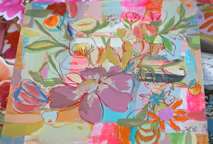 Abstracted floral pam garrison