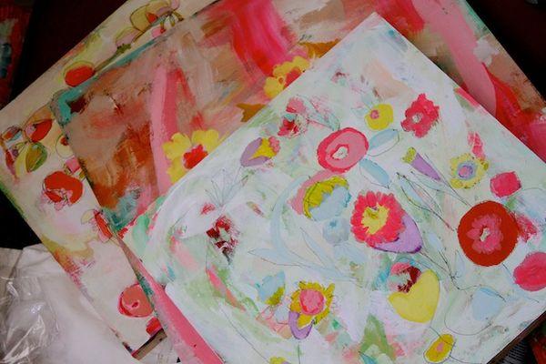 P Garrison paintings in progress9