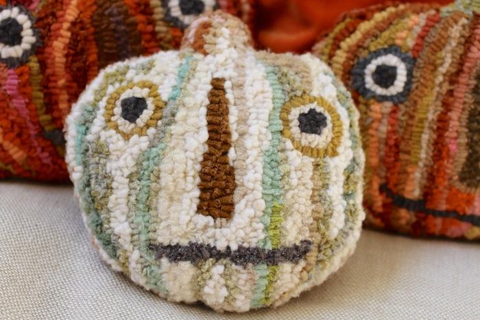 Pam Garrison hooked pumpkins 1