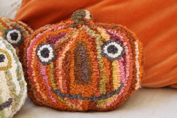 Pam Garrison hooked pumpkins3