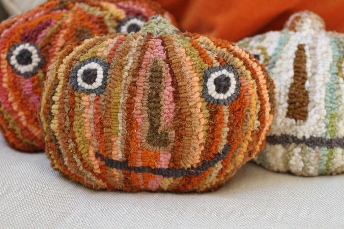 Pam Garrison hooked pumpkins 8