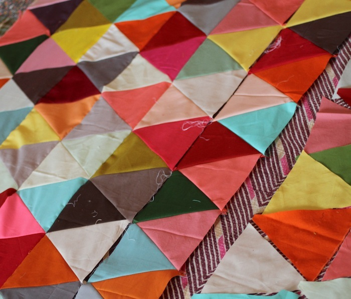 PG triangle quilt wip4
