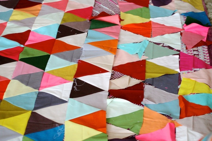 PG triangle quilt wip3