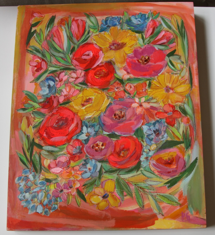 Friday floral PG painting