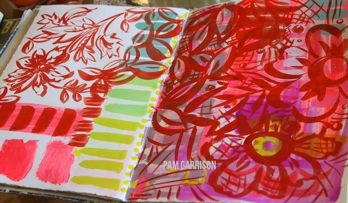 Pam garrison art journal spread