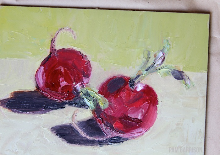 Pam garrison radishes oil