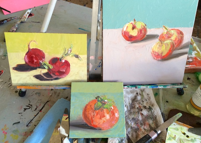 PGarrison oil paintings done in class