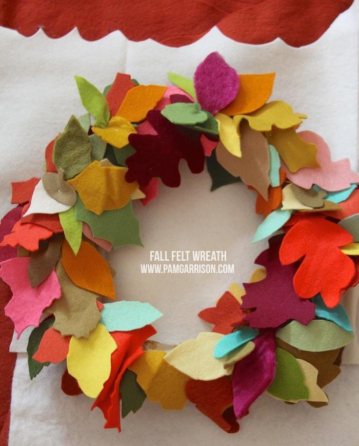 Pam Garrison fall felt wreath 2