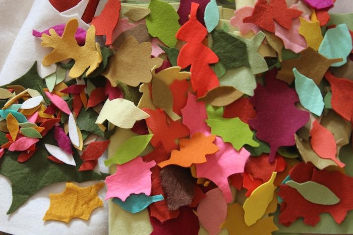 Fall felt leaves