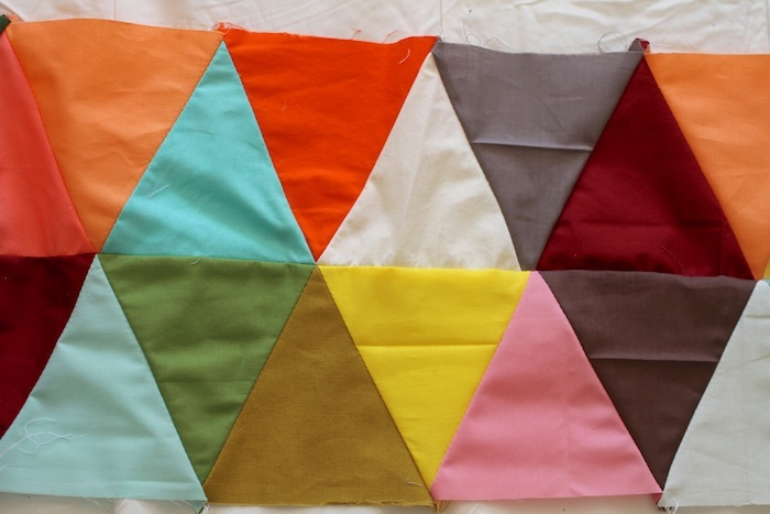 PG triangle quilt wip1