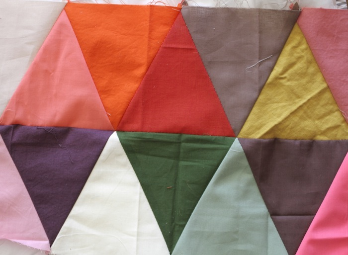 PG triangle quilt wip2