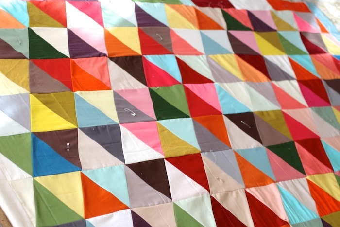PG triangle quilt wip5