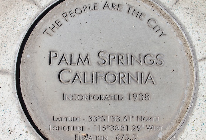 Palm Springs marker