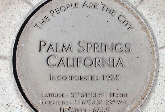 Palm Springs marker