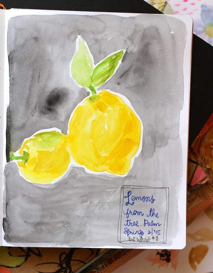 Pam Garrison sketchbook lemons