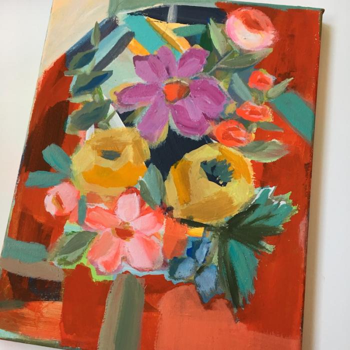 Pam Garrison floral painting