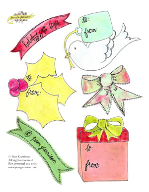 Holiday Gift Tags Printable PDF