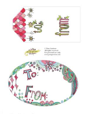 Holiday Gift Tags Printable PDF