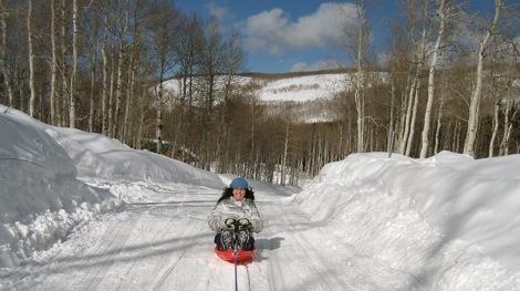 Julie_sledding